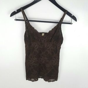 Banana Republic Chocolate Brown Lace Camisole
